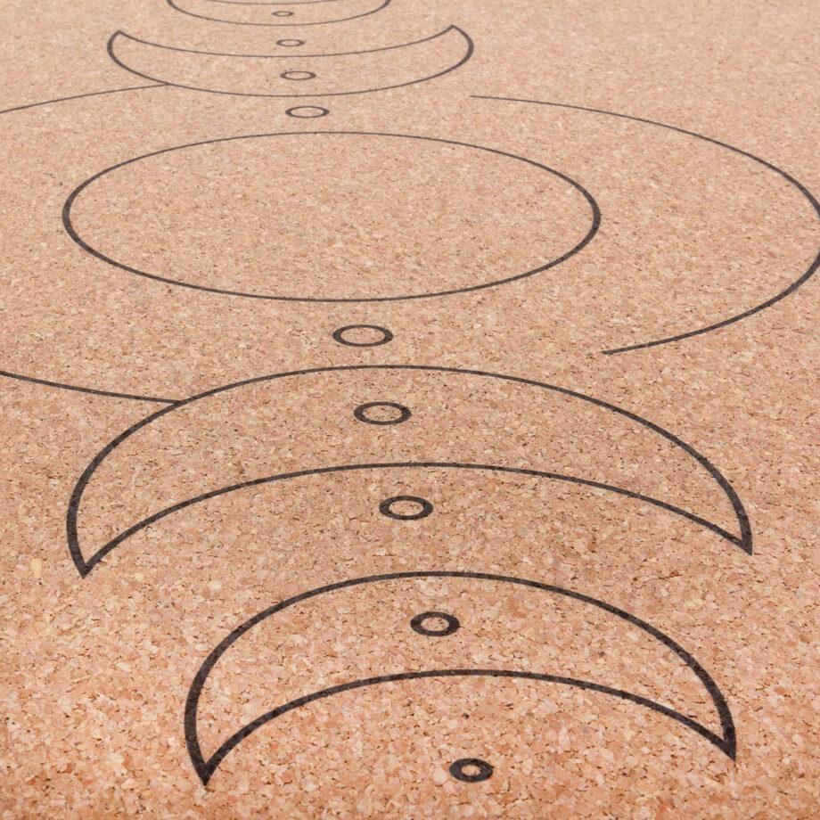 tapis de yoga en liege luna