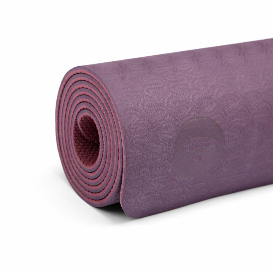 tapis de yoga lotus pro aubergine