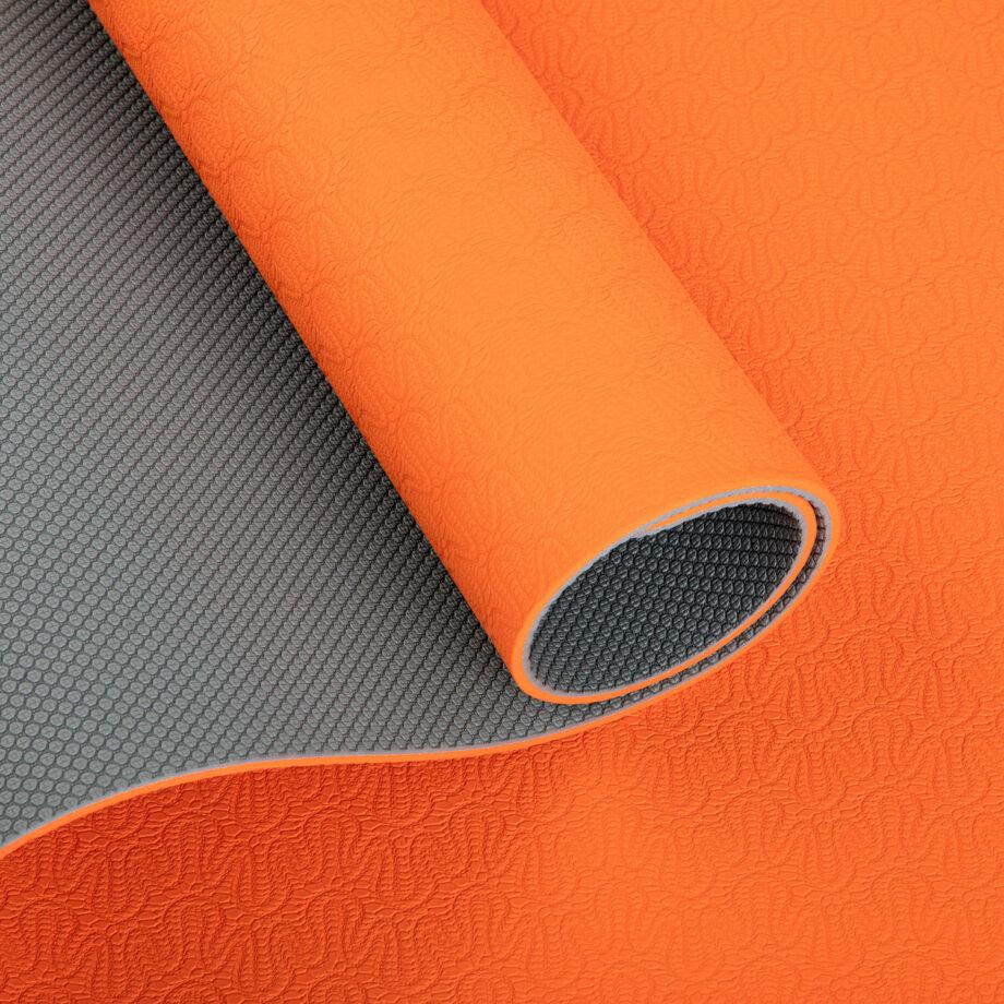 tapis de yoga lotus pro orange