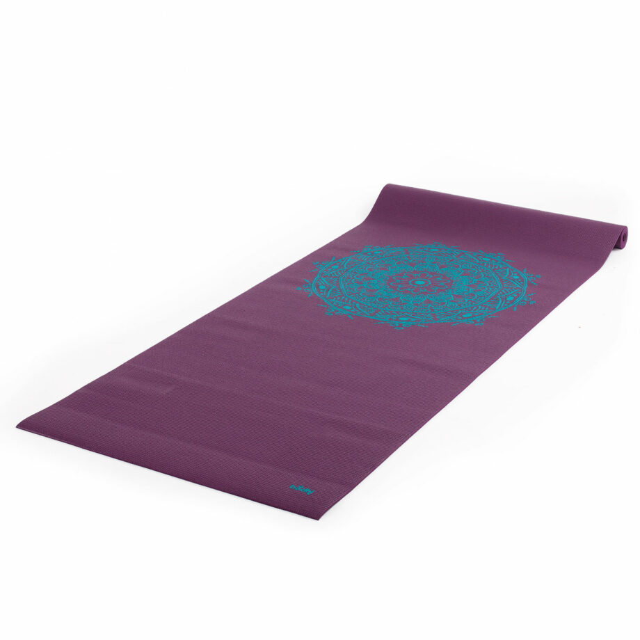 tapis de yoga mandala violet