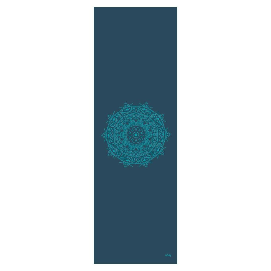 tapis de yoga mandala petrole