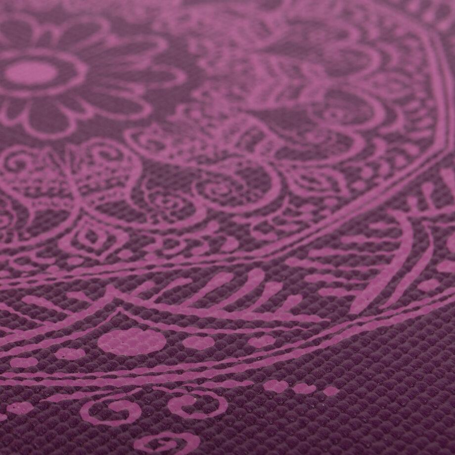 tapis de yoga mandala aubergine