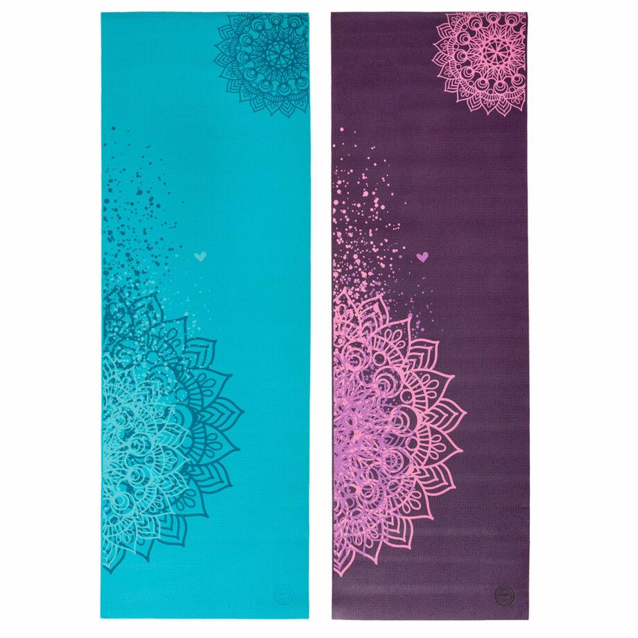 tapis de yoga mandala bicolore