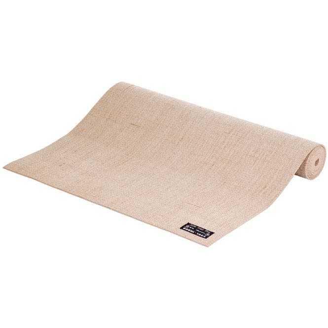 tapis de yoga toile de jute creme