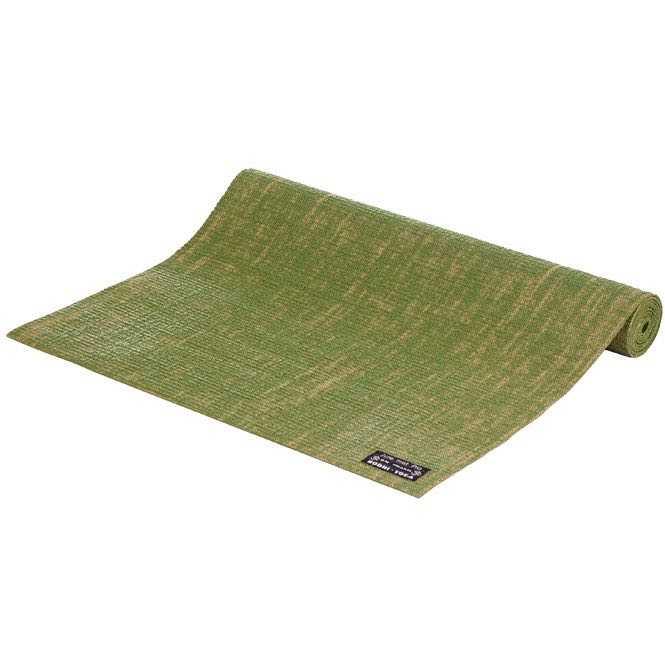 tapis de yoga toile de jute vert