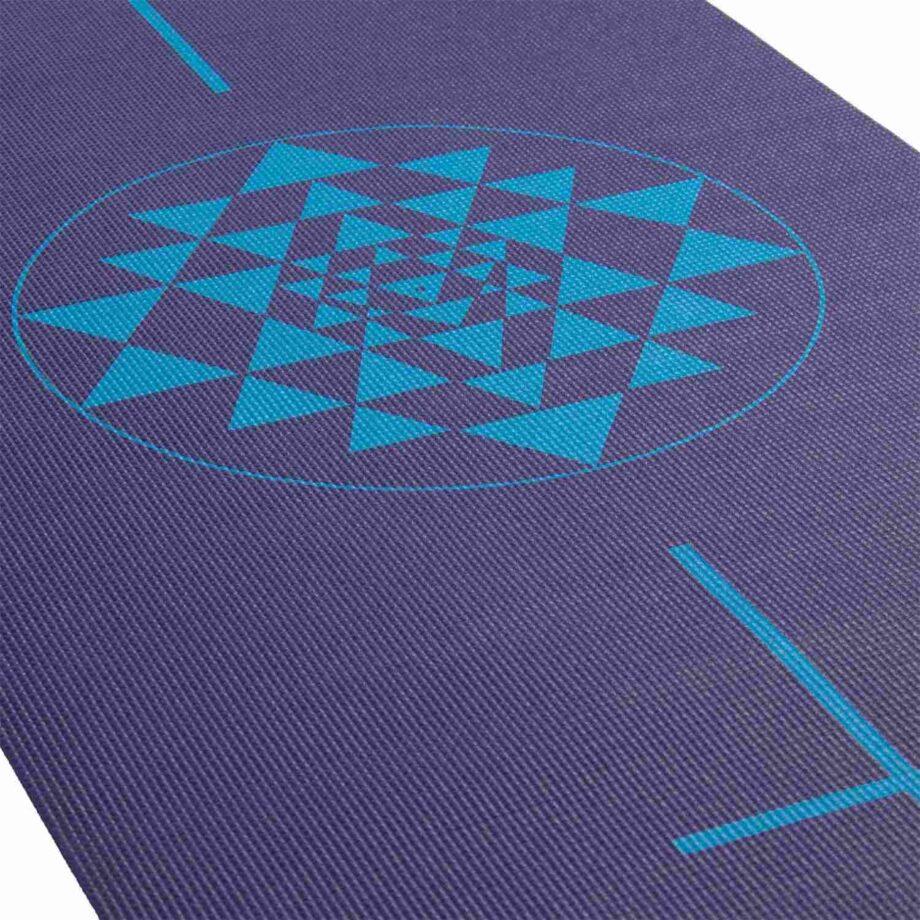 tapis de yoga yantra bleu