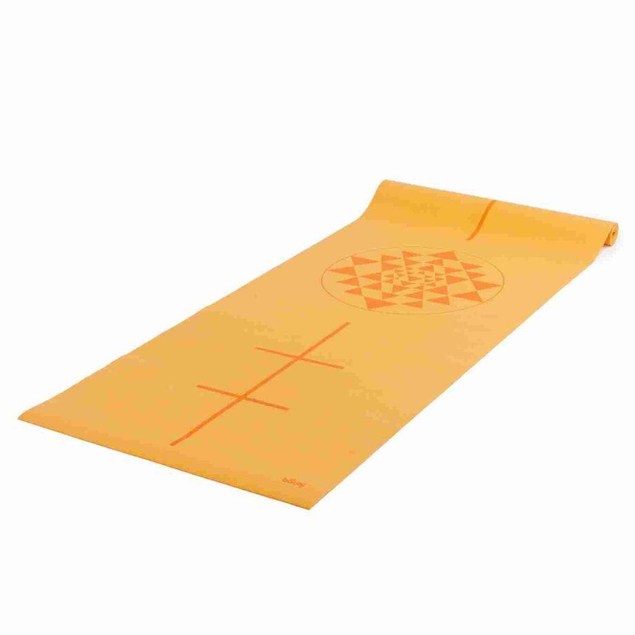 tapis de yoga yantra safran