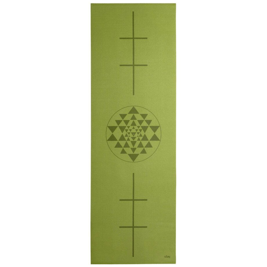 tapis de yoga yantra vert